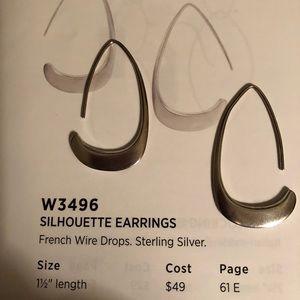 W3496 silpada silhouette earrings